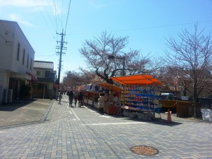 桜祭り屋台